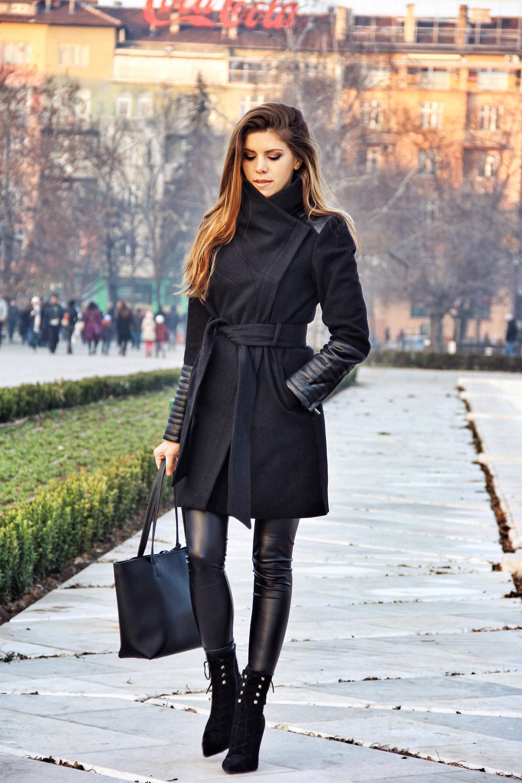 The Charming Olive, Adelina Perrin, NDK Sofia, Black Coat, Essential Winter Coat