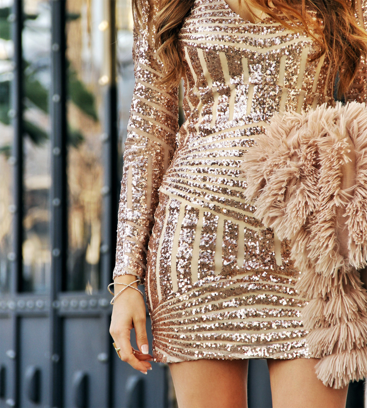 Sequin Dress, Sequins Dress, Pink and Gold Dress, Skin tone dress, Valentine's day dress
